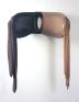 Senga Nengudi, R.S.V.P. Winter 1976. Nylon mesh, bicycle tire, string, 20 x 26 in.