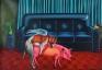 Vinod Balak: Kamasutra I, 2009. Oil on canvas, 52.4 x 76.8 in.
