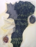 Lauren Luloff: Winged, 2011-12. Oil and bleached bed sheets on muslin, 72 x 57 in.