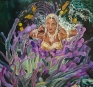 Chitra Ganesh, Her Accident, 2007. Acrylic on board, 31 x 28.75 in.