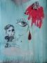 Chitra Ganesh, Untitled 2, 2007. Mixed media on paper, 16 x 12.