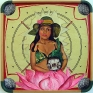 Chitra Ganesh, Zeenat, 2007. Acrylic on carom board, 28 x 28 in.