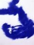 Vargas-Suarez Universal Blue Holes in the Mega-Island, 1996/2000. Ballpointpen on found paper, 22 x