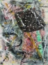 Whitney Claflin, Untitled, 2011. Oil, tissue paper, found club bracelet,necklace, studs, earring and