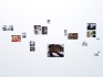 Installation of source material: found images and artist\'s photographs.