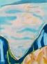 Ocean Between Cliffs, 2011. Acrylic and aqua oil on canvas, 30 x 22 in.