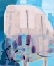 Reflections at Moss Landing, 2011. Acrylic and aqua oil on canvas, 26 x 22 in.