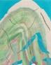 Ridge, 2011. Acrylic and aqua oil on canvas, 20 x 16 in.